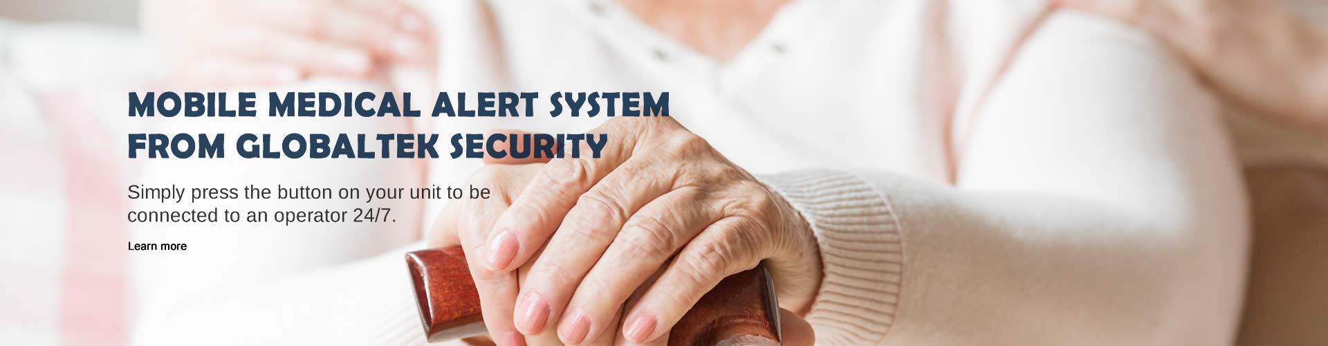 Mobile medical alert system from Globaltek Security